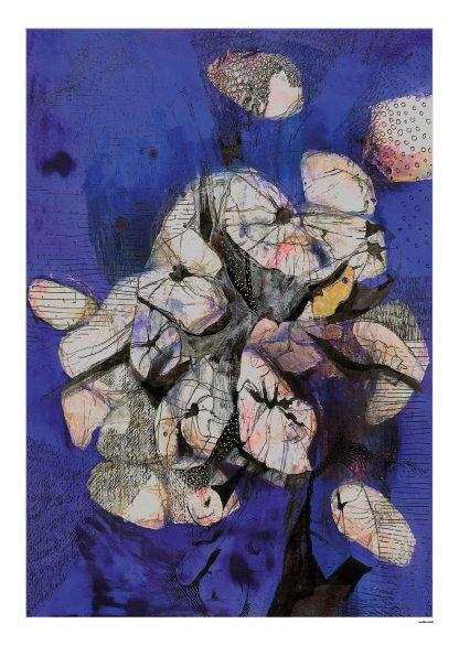 Blå-træstubbe